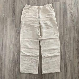 LL Bean linen trousers